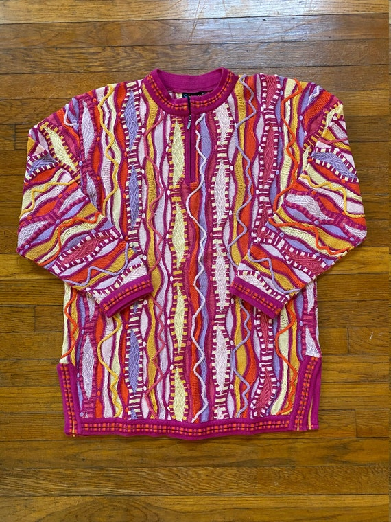 1990's Authentic COOGI Australia Textured Knit Zip