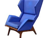 Custom Mid-Century Adrian Pearsall Lounge Chair