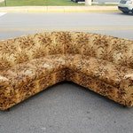 Reserved for Raspberry b.  Velvet 2 smaller piece Mid Century Sectional *estimated shipping please contact for a quote