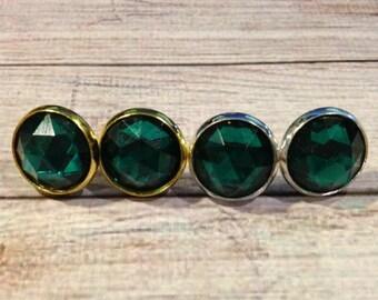 Emerald Crystal Studs, Emerald Studs, Emerald Bridesmaid Earrings, Statement Earrings, Crystal Studs, Green Earrings, Bridal Earrings