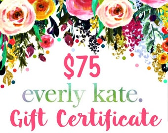 Gift Certificate, Online Gift Certificate, Printable Gift Certificate, Instant Gift Certificate, Online Gift Card, Printable Gift Code