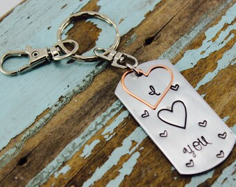 I LOVE you ---Priceless gift...Mother's Day Gift | Hand Stamped | Custom Keychain | Graduation gift |missing my child