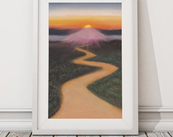The Long Journey Print from Original Pastel Drawing