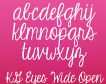 KG Eyes Wide Open Font (Commercial License for One User)