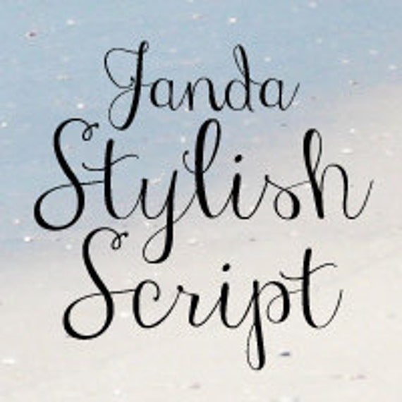 Janda Stylish Script Font Commercial License For One User Etsy