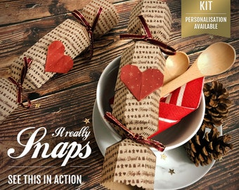 Reusable Crackers That Snap - Personalised Crackers - Downloadable PDF Kit - Eco Christmas Crackers - DIY Kit - Make Your Own Crackers