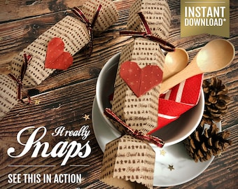 Reusable Crackers That Snap - Downloadable PDF Kit - Eco Christmas Crackers - DIY Kit - Make Your Own Crackers