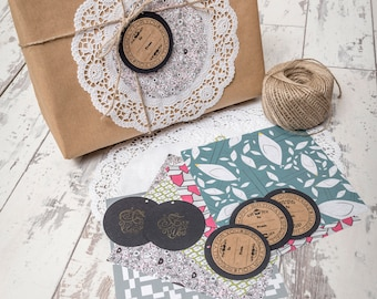 Rustic Gift Tags - Tags for Any Occasion - Handmade Tags - Vintage Charm - Kraft Tags