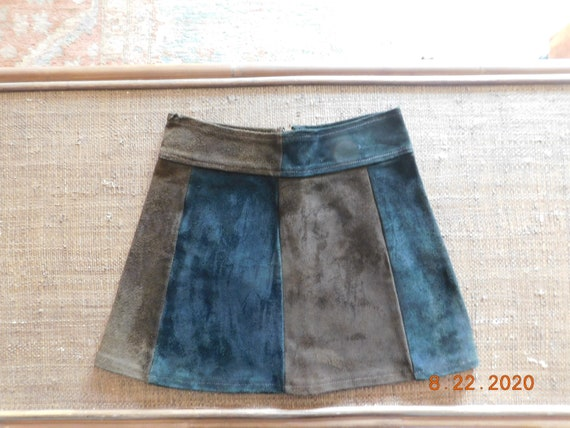 1960's Suede Mini Skirt - image 1