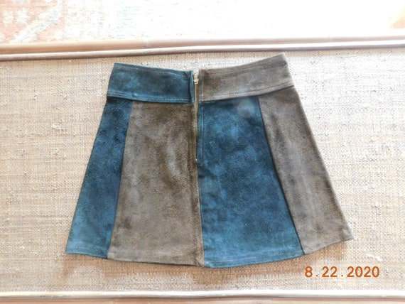 1960's Suede Mini Skirt - image 2