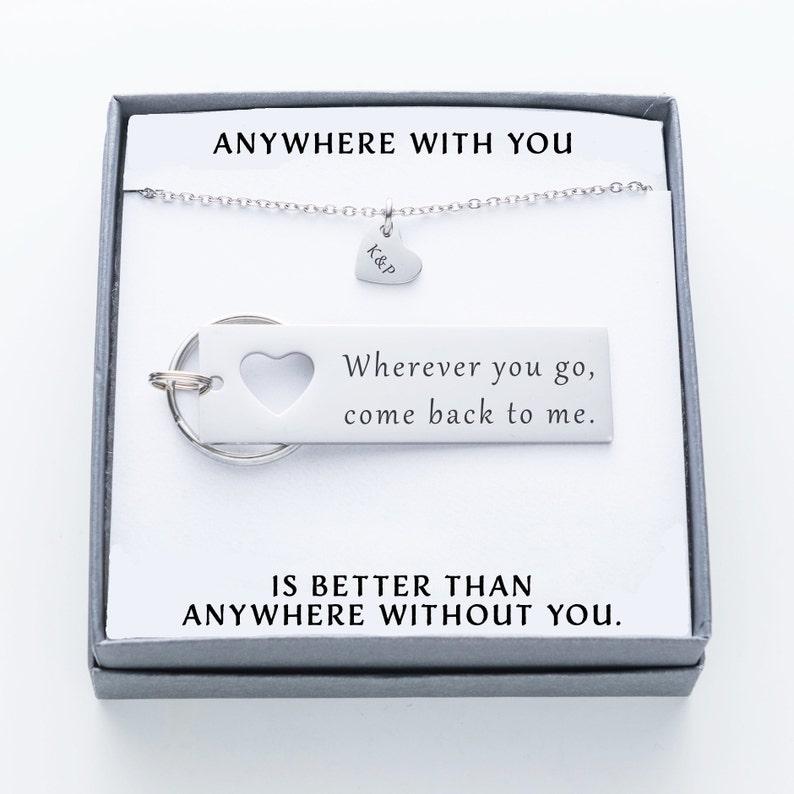 matching keychain jewelry college graduation gift for him boyfriend