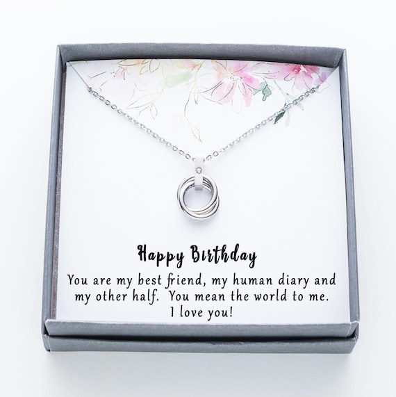 Three Birthstone Necklace,3 BFF Necklaces Soul Sisters Necklace,birthstone horizontal .birthstone Vertical bridesmaid Birthday Gift for Her