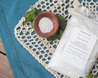 7oz PEPPERMINT Vegan Organic Fluoride Free Remineralizing Tooth Powder