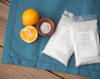 16oz ORANGE Vegan Organic Fluoride Free Remineralizing Tooth Powder,  Most Popular Formula Perfect for a large family