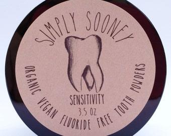 VALUE SIZE 6 Month Supply SENSITIVITY Organic Vegan Fluoride Free Remineralizing Tooth Powder