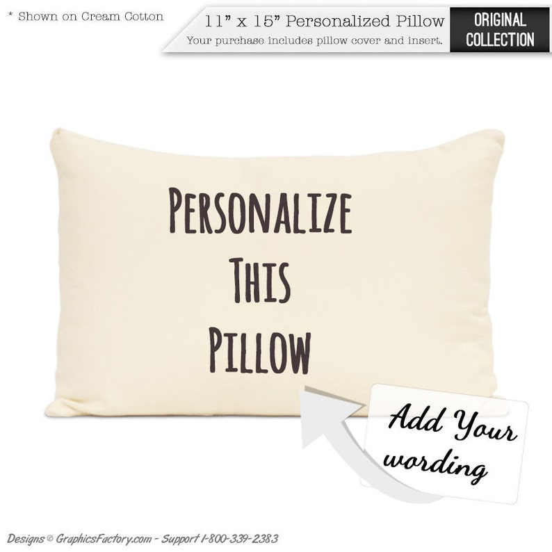 Personalized Pillow Custom Cotton Pillow Home Decor Throw image 0