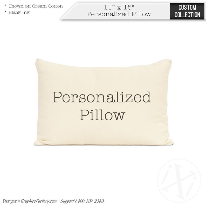 Personalized pillow  cotton gift  Add any words art image 0