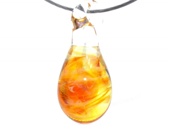 Sunset Swirl Borosilicate Glass Pendant