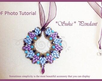 Photo Tutorial  ENG-ITA ,DIY Pendant,*Suha* pendant ,PDf Pattern 30
