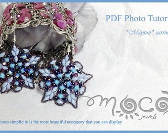 Photo Tutorial ENG - ITA ,DIY Earrings,*Maysun* earrings ,PDf Pattern 22