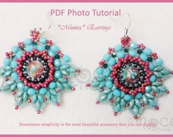 Photo Tutorial ITA ,DIY Earrings,*Munira* earrings ,PDf Pattern 20