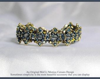 DIY Photo Tutorial Eng- ITA ,*RounDuo* bracelet ,PDF Pattern 67 with rounduo, swarovski ,superduo,seed beads,