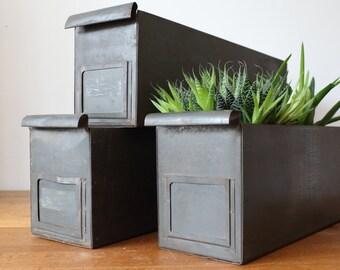 Vintage industrial drawers / storage / planter - 3 left