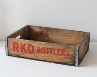 Vintage RKO Bottlers wooden Soda crate - wooden crate - storage crate - collectable crate