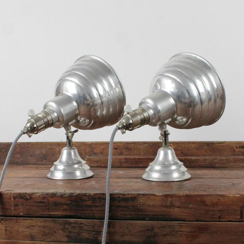 Pair Of Art Deco Studio Lamps Vintage Lighting Desk Lamps
