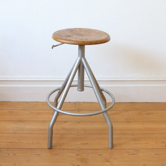 Swell Vintage French Industrial Stool Mid Century Stool Seating Office Chair Studio Chair Swivel Stool Gmtry Best Dining Table And Chair Ideas Images Gmtryco