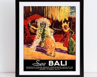 Bali Travel Poster Etsy
