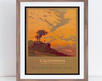 a17b1d84ef California Travel Poster, California Art, California Poster, California  Decor, California Travel, California Print, Travel Gift