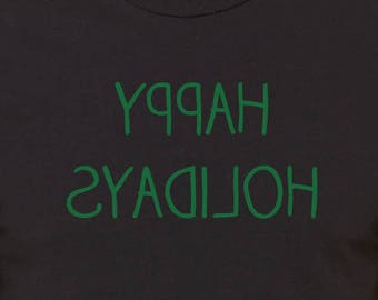 Happy Holidays Selfie Shirt, Christmas Gift TShirt