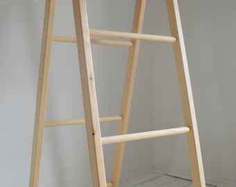 Large double Retro Ladder for Storage Solution Hand Made Pine Wood Flexible