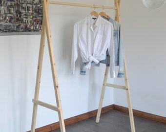 Handmade, Natural Wood, Clothes Rack, Clothes Rail!