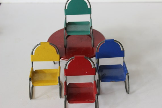 Mitte Des Jahrhunderts Stühle Moderne Metall Patio Tisch Und | Etsy