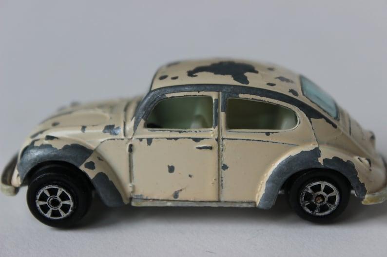 Vintage Jouet Voitures Blanc Voiture Minuscule Beetle 1960s À Yatming Bug Moulé 1970s Volkswagen Hotwheel Vw 4jAL5R