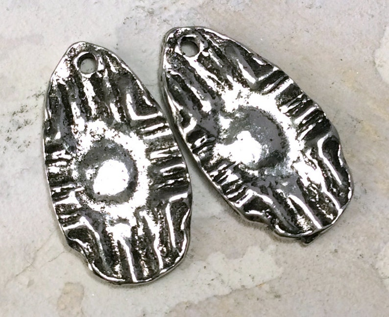 Zia Sun Charms - 235CP Artisan Handmade Jewelry Earring Charms Handcrafted Pewter 20mm Necklace Charms