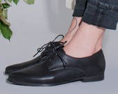 Black Leather Shoes, Classic Oxfords, Women Oxfords, Comfortable Shoes, Lace Up Shoes, Black Dress Shoes, Black Formal Shoes, Women Flats