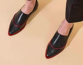 Women Formal Shoes, Flat Black Leather Shoes, Elegant Shoes, Comfortable Flats, Casual Shoes, Handmade Shoes, Pointy Shoes