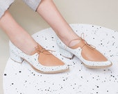 Women Leather Shoes, Leather Oxfords, Pointed Toes Shoes, Classic Shoes, Lace Up Shoes, Pointy Flats, Comfortable Shoes, Designer Handmade