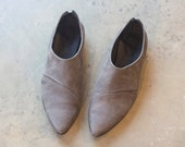 Womens shoes, Women Leather Oxfords, Brown Leather Shoes, Brown Shoes, Taupe Leather Flats, Gray Leather Shoes, Genuine Leather Flat Shoes