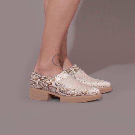 Leather Women Loafers Snakeskin Flats Platform Shoes Snakeskin Snakeskin For Shoes Day Every Shoes Handmade Shoes Comfortable xAAnRF