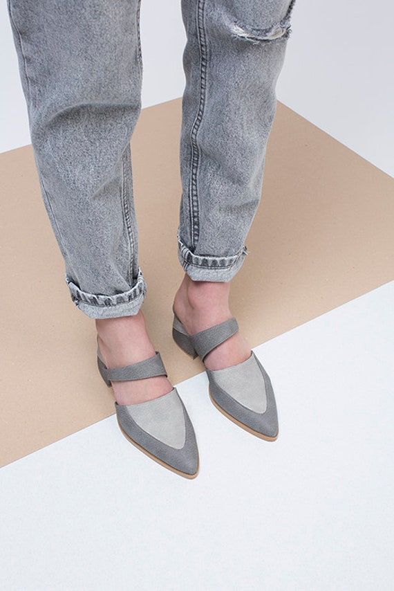 Vegan Mules Ons Heel Slip Vegan Shoes Shoes Shoes Made Shoes Mid Stylish Mules Gray Summer Shoes Shoes Custom gSq5wO65