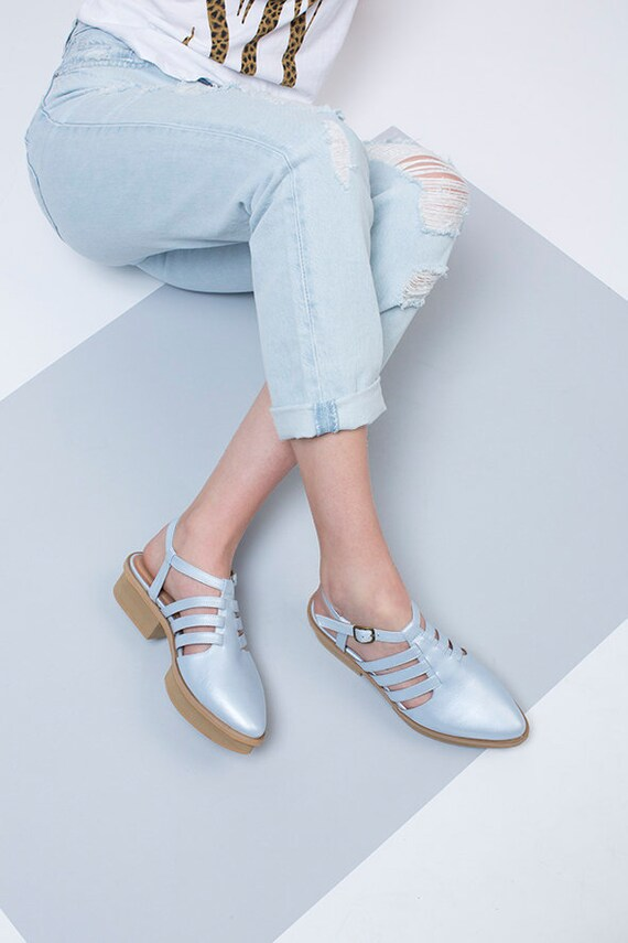 Leather Ankle Sandals Sandals Closed Toe Slingback Strap Shoes Summer Shoes Metallic Custom Sandals SALE shoes Sandals Made RR8rwgqp