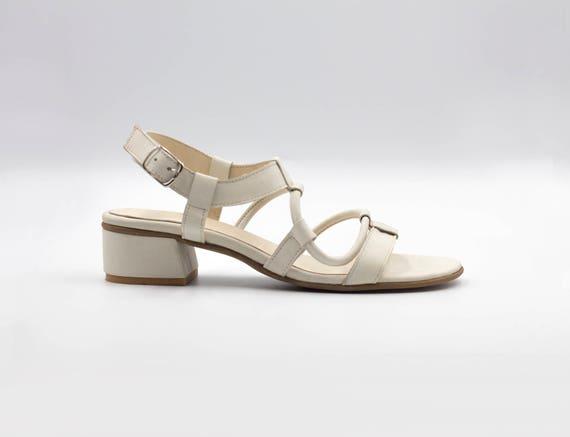 de mari blanches sandales sandales en Sandales cuir 6YXqR1wB