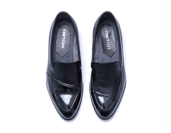 65bece654a97 Formal Shoes For Ladies Shiny Black Leather Flats Womens