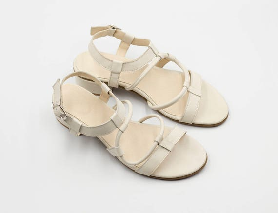 Sandals Sandals Shoes Ankle Strap Sandals Sandals Everyday Summer Shoes Women Handmade Vegan Vegan White Shoes qw0RRaB