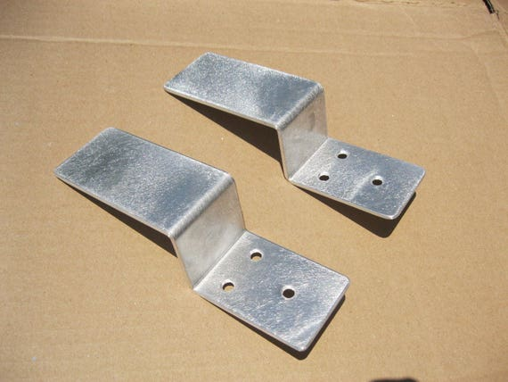 Drop Open Bar Security Barn Door Lock Brackets Fits 2x4 Boards 3 Wide 1 Pair