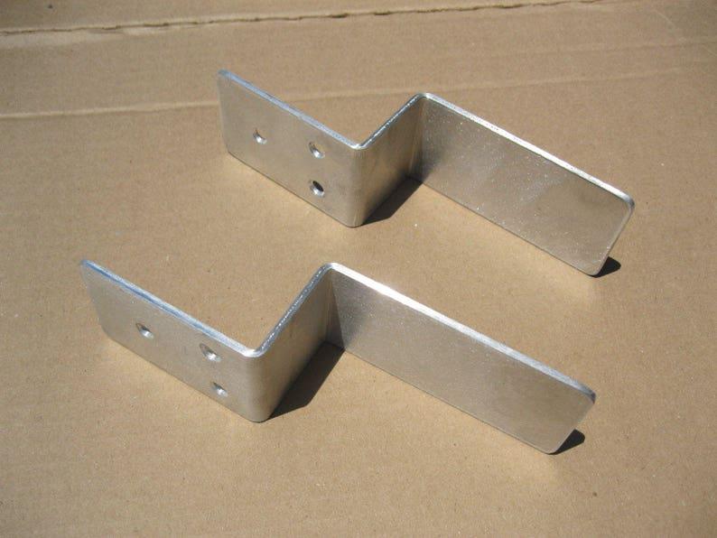 Drop Open Bar Security Door Lock Brackets Fits 2x4 Boards ...